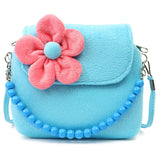 Flowers Plush Hand Bag for girls