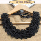 Vintage black lace beaded collar chokers