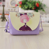 **Hot** New Cartoon printed leather Mini Crossbody Shoulder bag for girls