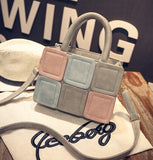 Autumn winter candy color block small handbag