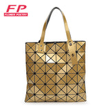 Issey Miyak Sliver and Diamond Shape Fashion Handbag - 11 Colors available