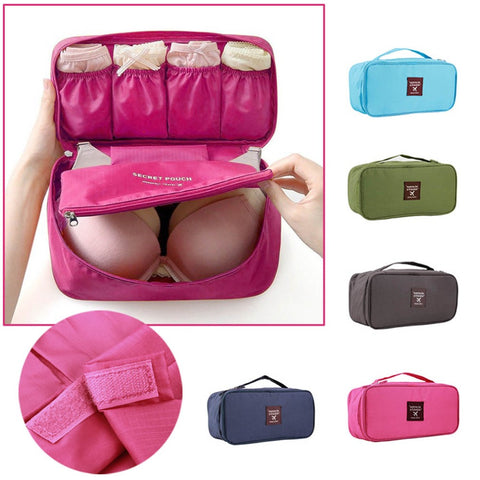 1Pc Bra Underwear Lingerie Travel Bag for Women Organizer Trip Handbag Luggage Traveling Bag Pouch Case Suitcase Space Saver Bag