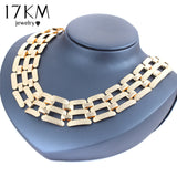 17KM Alloy Big Statement Necklace