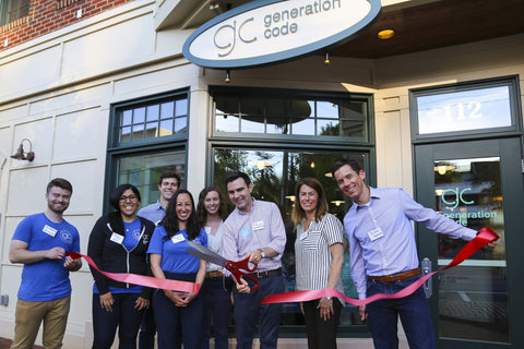 ribbon cutting with GC team