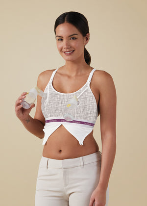 Bravado Designs maternity and nursing bra | Clip and Pump™ Hands-Free Nursing Bra Accessory |