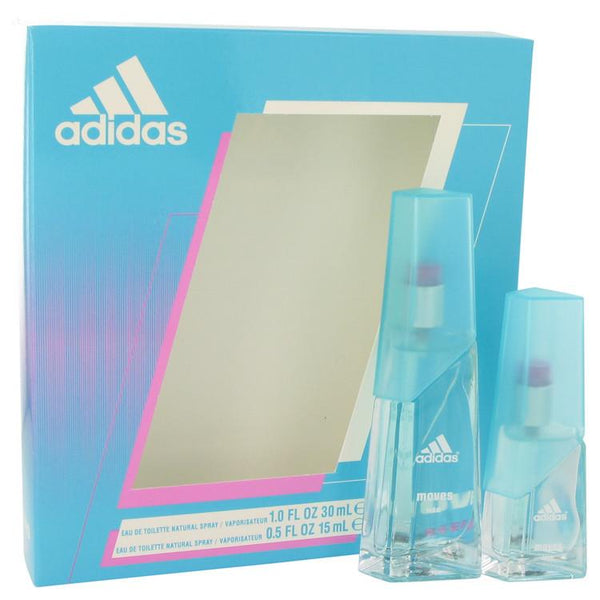 Adidas Moves by Adidas Gift Set -- 1 oz Eau De Toilette Spray + .5 oz Eau De Toilette Spray