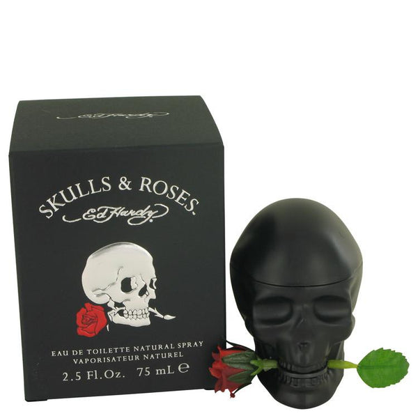 Skulls & Roses by Christian Audigier Eau De Toilette Spray 2.5 oz