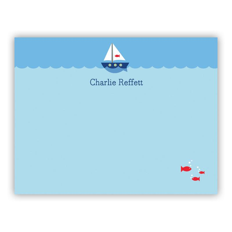 Sailboat Small Flat Note