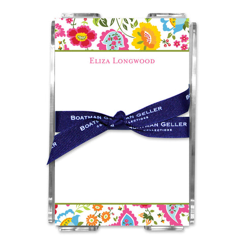 Bright Floral Note Sheets