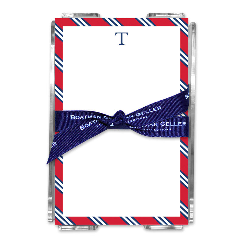 Repp Tie Red & Navy Note Sheets