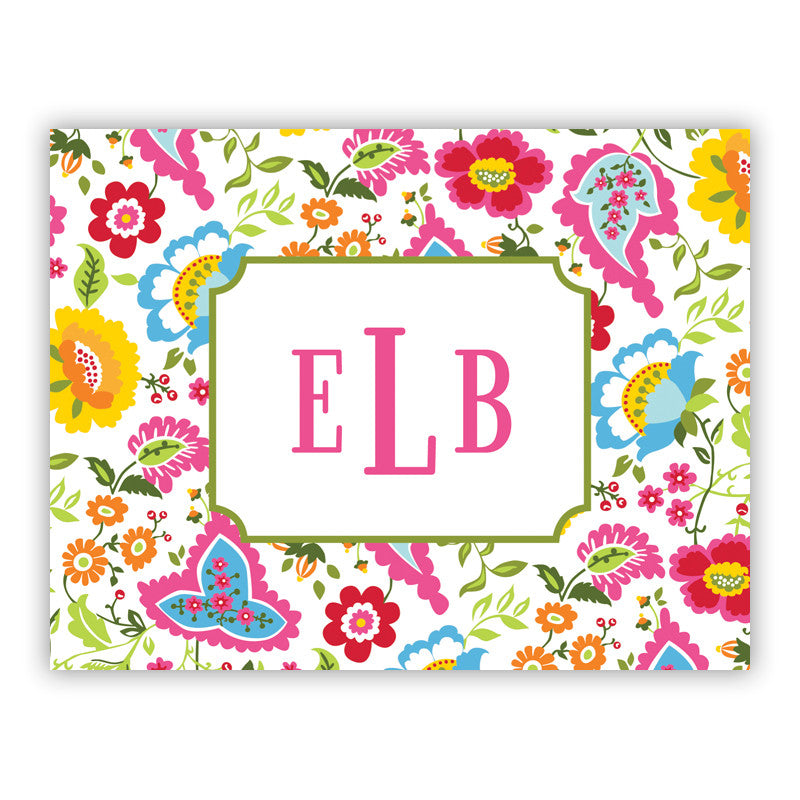 Bright Floral Folded Notes