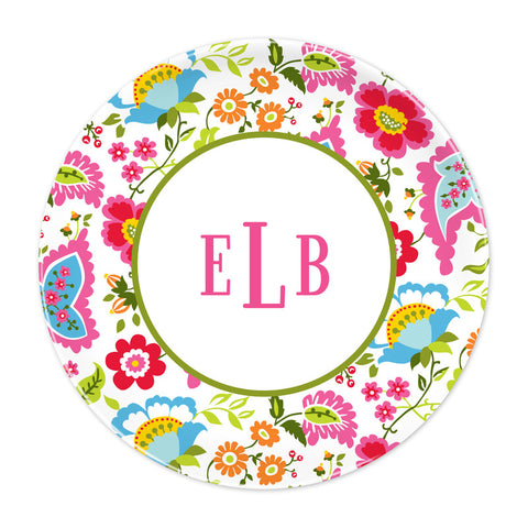 Bright Floral Plate