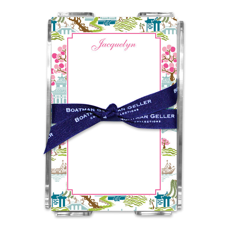 Chinoiserie Spring Note Sheets