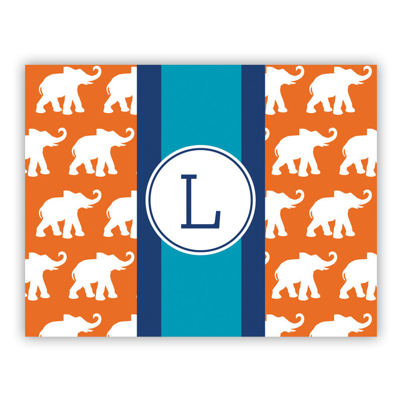 Elephants Ribbon in Orange Folded Notes