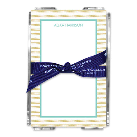 Rope Stripe Gold Note Sheets