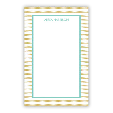 Rope Stripe Gold Notepad