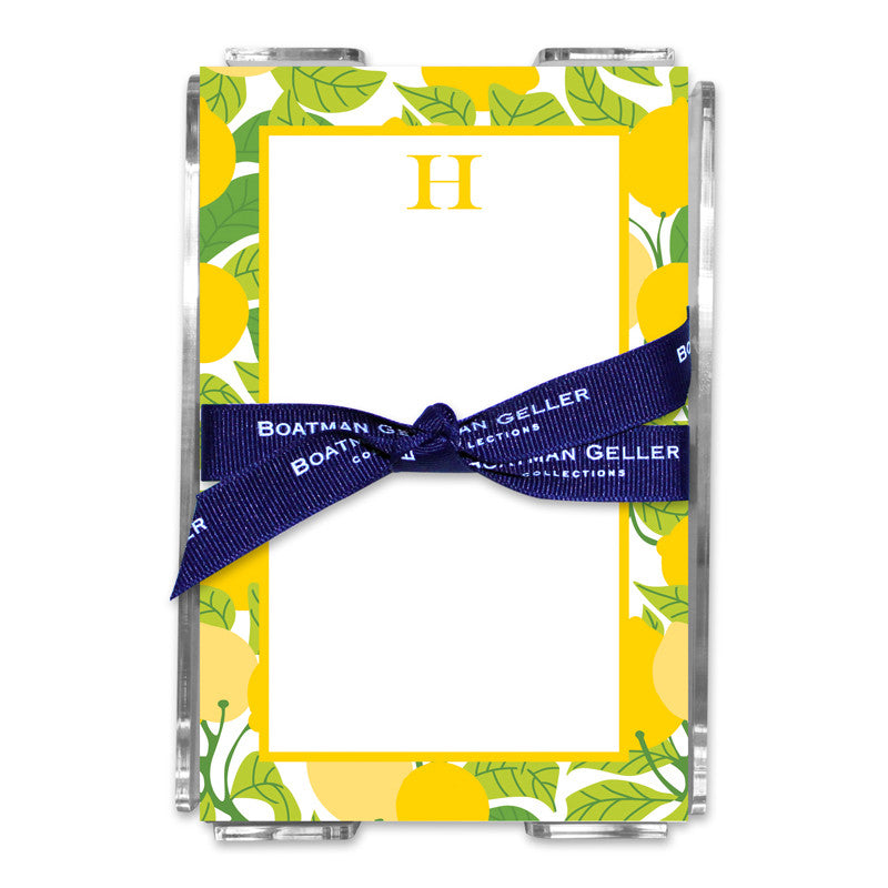 Lemons Note Sheets