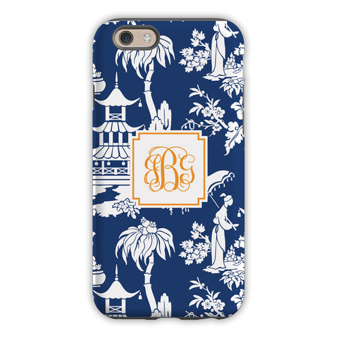 Pagoda Garden Navy iPhone Case