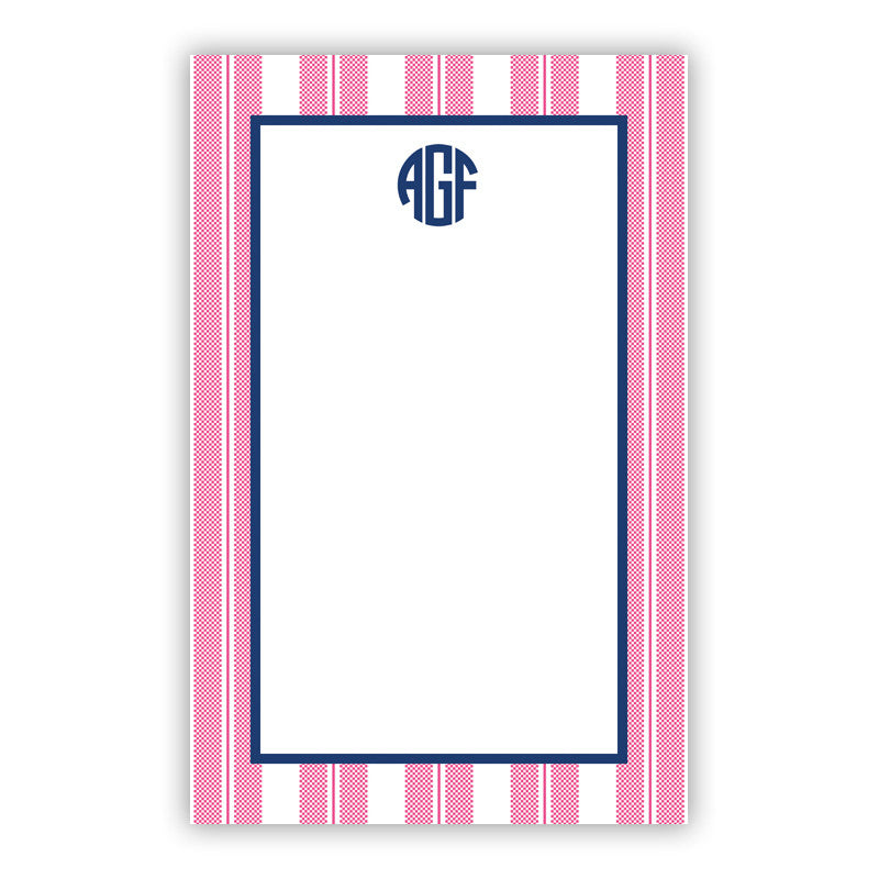 Vineyard Stripe Raspberry Notepad