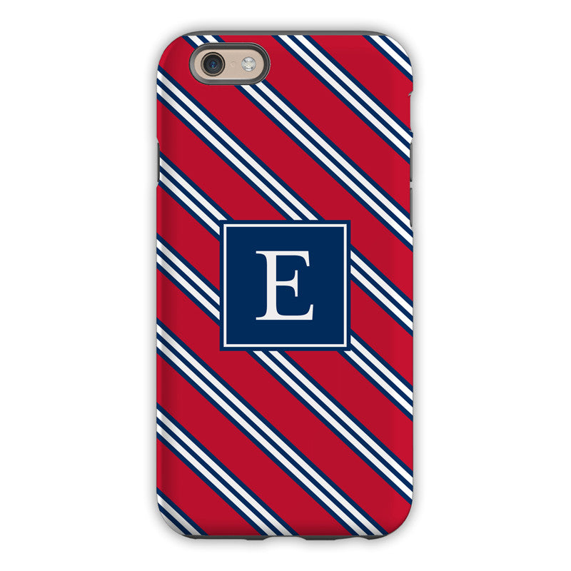 Repp Tie Red & Navy iPhone Case