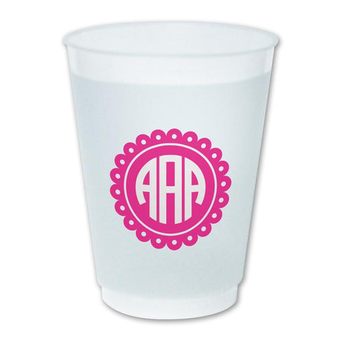 Scallop Monogram Cup