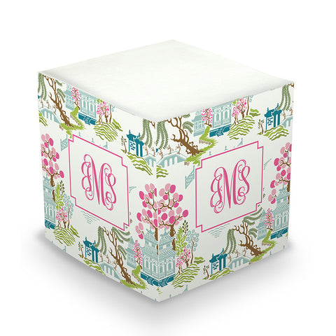Chinoiserie Spring Sticky Memo Cube