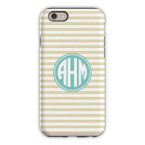 Rope Stripe Gold iPhone Case