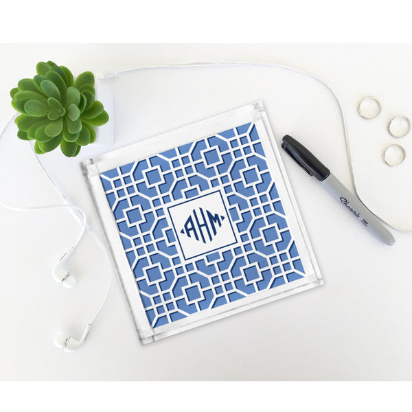 Fret Navy Petite Lucite Tray