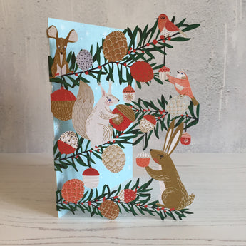Forest Creatures Laser Cut Christmas Card designed by Antoana Oreski