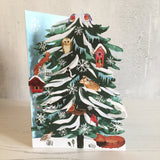 Woodland Conifer Laser Cut Christmas Card by Katie Vernon