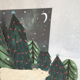 Northern Lights Laser Cut Christmas Card designed by Katie Vernon