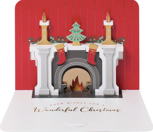 3D Pop Up Christmas Fireplace by Form