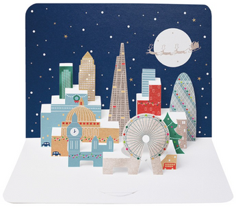 3D Christmas London Skyline by The Art File