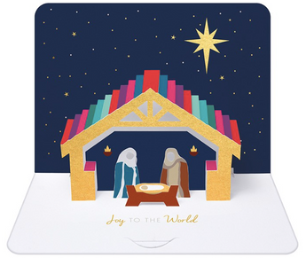 3D Pop Up Christmas Nativity by Form, The Art File