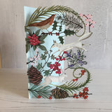 Winter Animals Laser Cut Christmas Card designed by Jane Ray