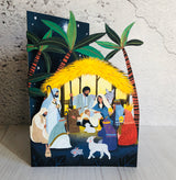 Away in a Manger Laser Cut Christmas Card by Antoana Oreski GCX954