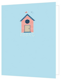 Beach Hut, Bright New Things Mini Card, BNT53