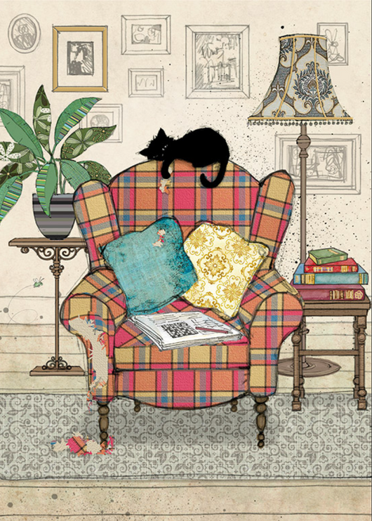 Chair Kitty by Jane Crowther H034