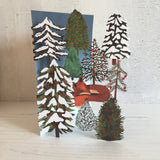 Sleepy Fox Laser Cut Christmas Card by Katie Vernon