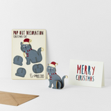 Christmas Cat Pop Out Decoration and Card