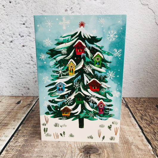Christmas Conifer Tree Charity Pack (Eight Mini Cards)*
