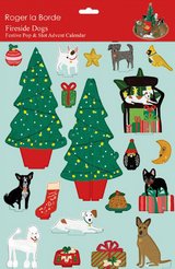 Christmas Fireside Dogs Pop and Slot Advent Calendar