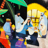 Christmas Nativity Tri-fold Pop Out (Five Mini Cards) NSX681