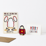 Christmas Penguin Pop Out Decoration and Card