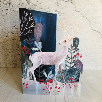 Christmas Stag Laser Cut Christmas Card by Kendra Binney GCX955