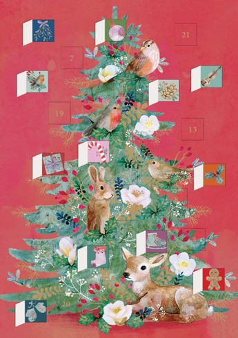 Christmas Tree Mini Advent Calendar Card
