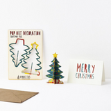 Christmas Tree Pop Out Decoration and Card