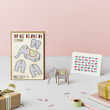 Elephant Pop Out Decoration and Card