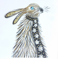 Hare with Scarf, Heather Martin 344SW