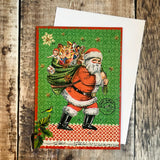 Vintage Santa Mini Advent Calendar Card